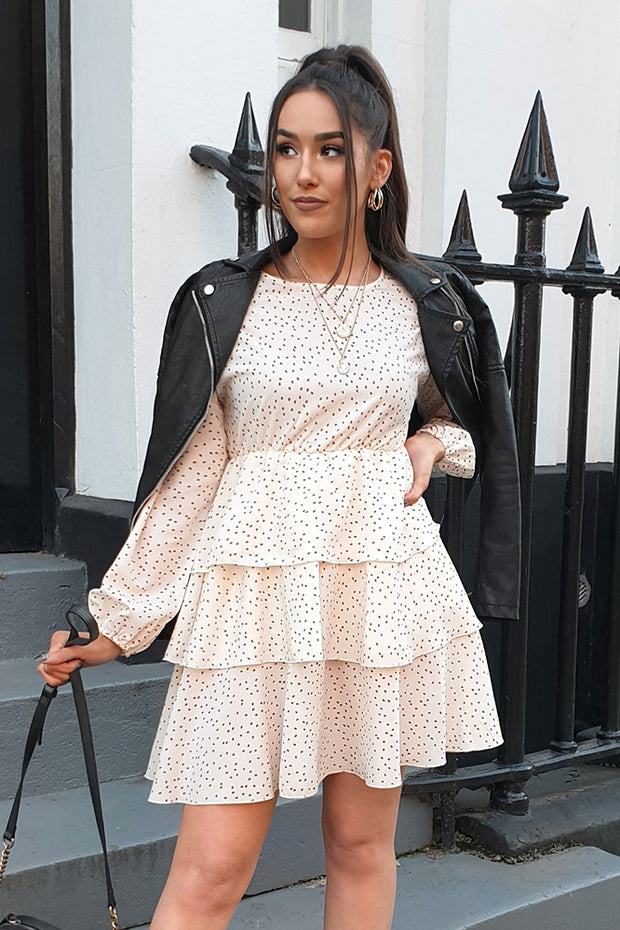 Niamh White Dotty Layered Dress