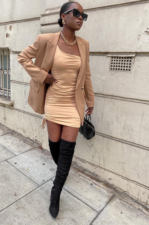 Charlie Nude Bodycon Dress