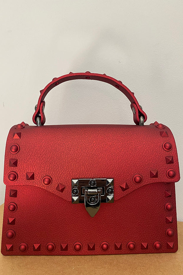 Kennedy Red Studded Bag