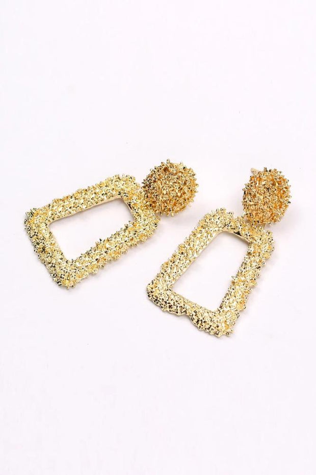 Sammy Mini Gold Geometric Drop Earrings