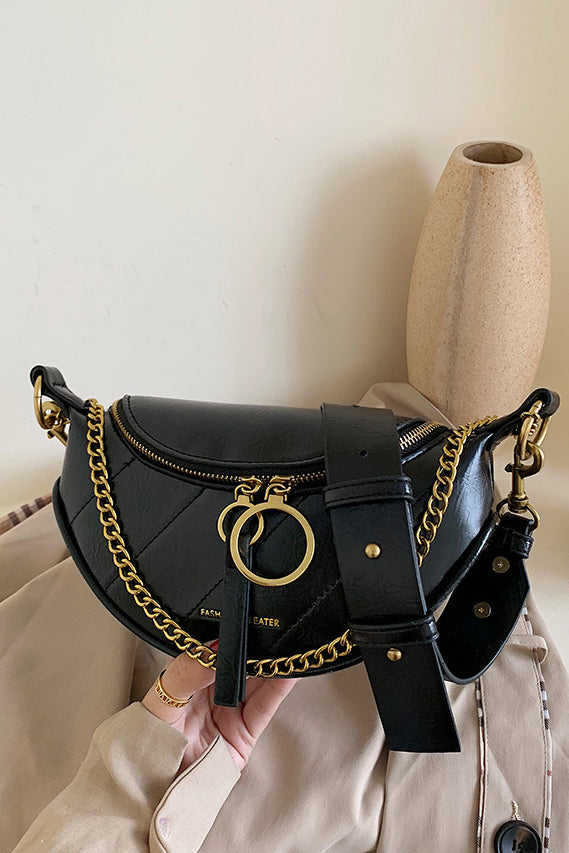 Samera Black Chain Bum Bag