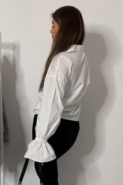 Alexa White Oversized Shirt