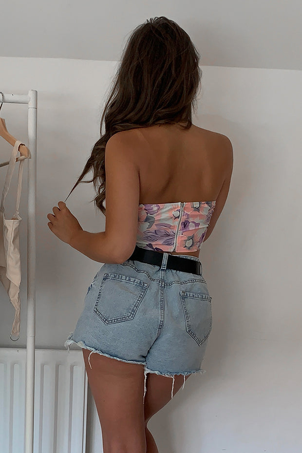 Bobbi Floral Bandeau Top