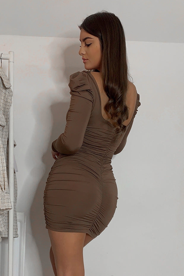 JoJo Brown Bodycon Dress