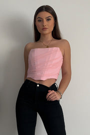 Stephy Pink Corset Top
