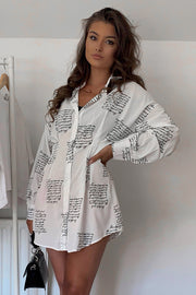 Tallulah White Shirt Dress