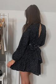 Niamh Black Dotty Layered Dress