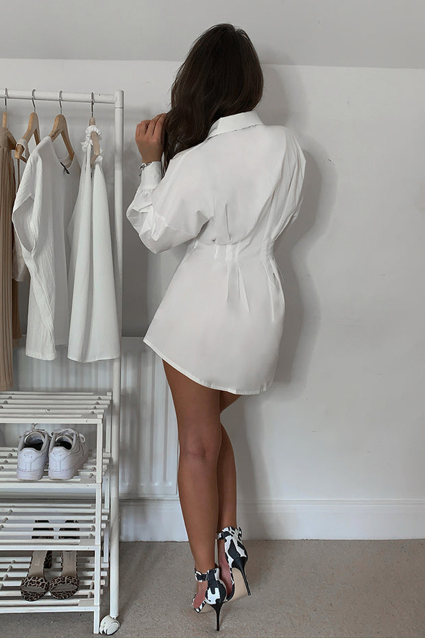 Piper White Shirt Dress