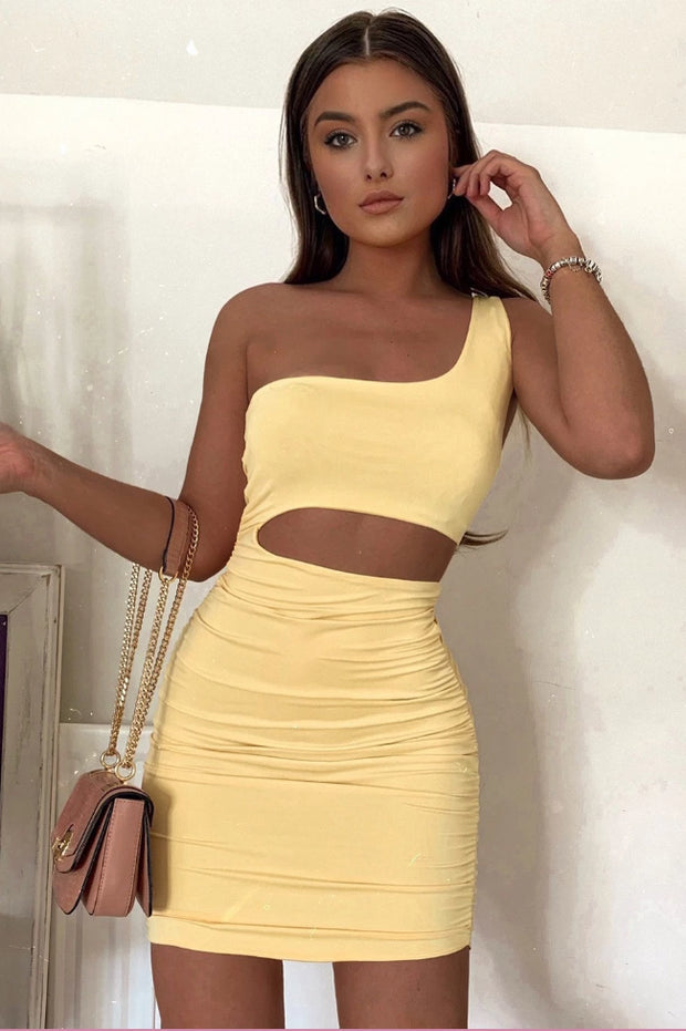Harper Yellow Cutout Bodycon Dress