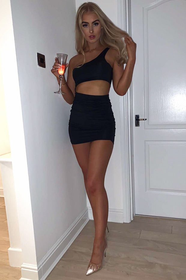 Harper Black Cutout Bodycon Dress