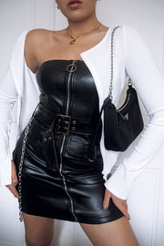 Jodie Faux Leather Mini Dress