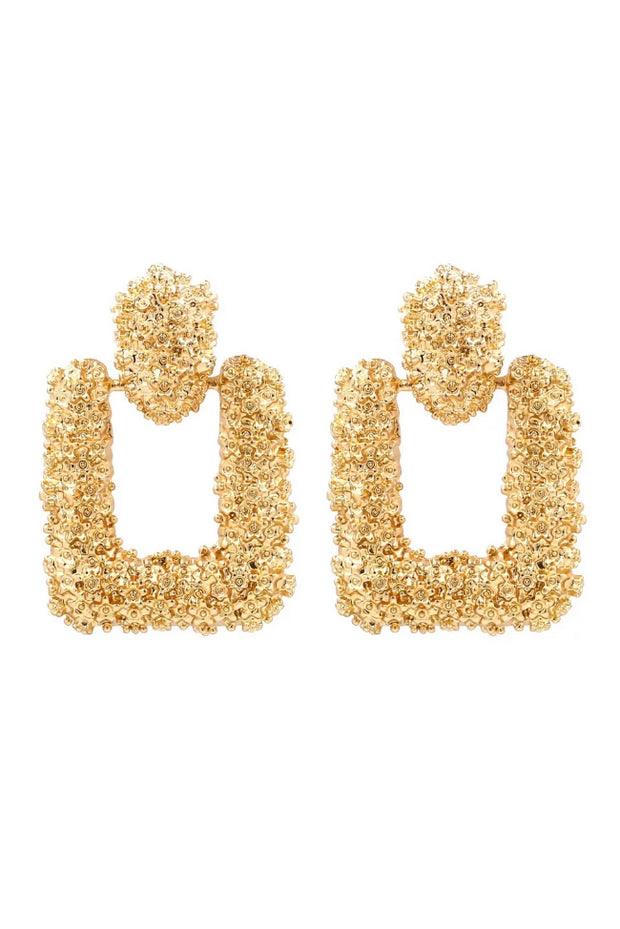 Maggie Gold Sqaure Drop Earrings