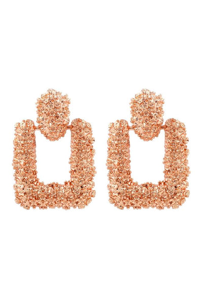 Maggie Rose Gold Sqaure Drop Earrings