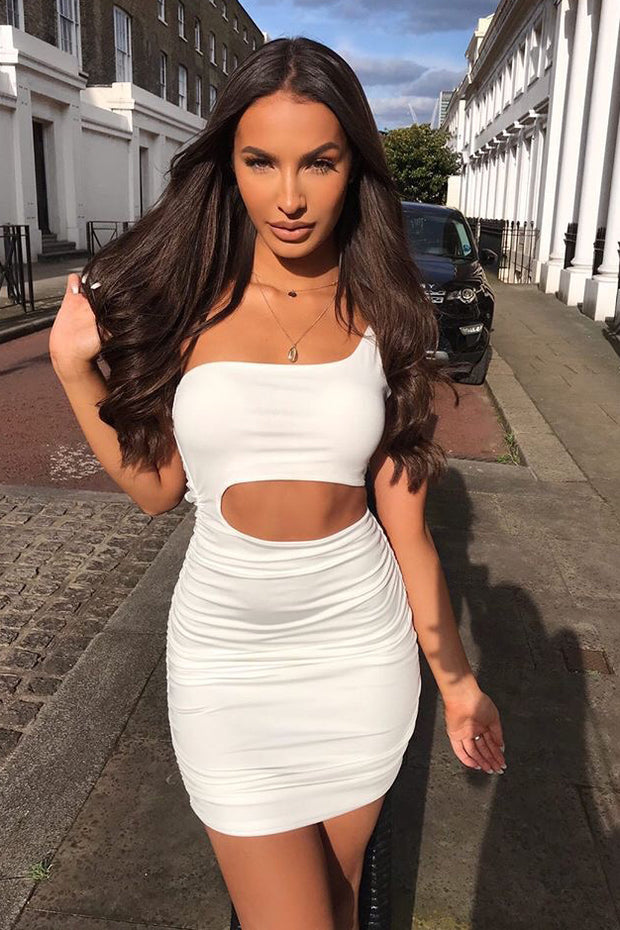 Harper White Cutout Bodycon Dress