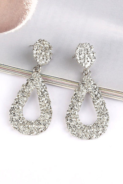 Suzy Silver Teardrop Drop Earrings