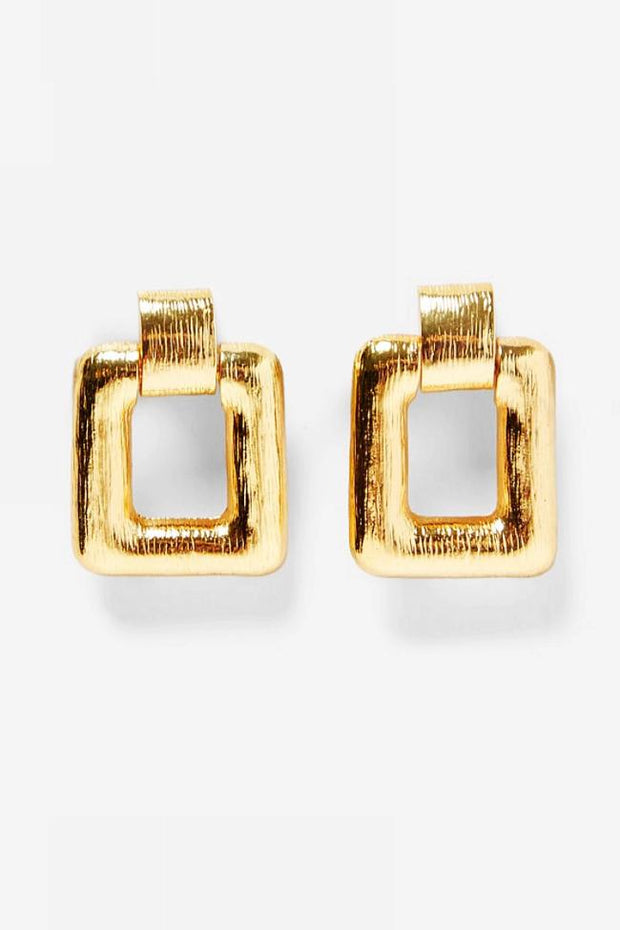 Anna Gold Square Earrings
