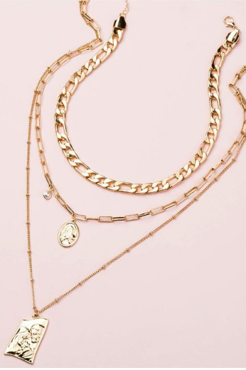 Bella Gold Chain Layered Necklace