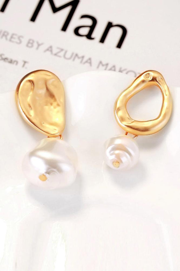 Pippa Faux Pearl Textured Drop Earrings