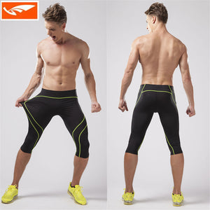 Compression Running Pants Men's 3/4 Jogging Pants Gym