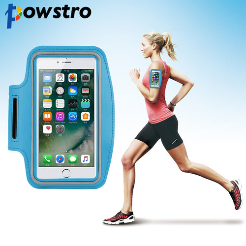 Powstro Adjustable Sport GYM Bag Case For Apple iPhone 5 6S Plus SE Waterproof