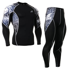 Long Sleeve T-Shirts & Pants Leggings Gym Fitness