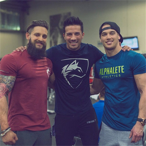 2018 summer New mens gyms T shirt Crossfit