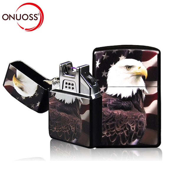 ONUOSS Lighters Electronic Metal Cigarette lighter