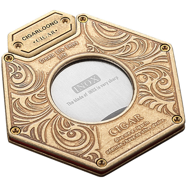 New Style! Luxury gold & silver cigar cutter