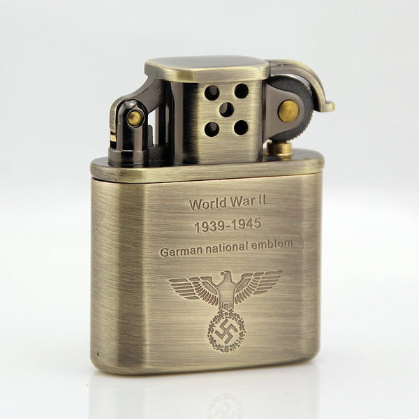 Fire Windproof Kerosene Lighter Stainless Steel Wheel Refillable Cigar Tobacco Cigarette Lighter