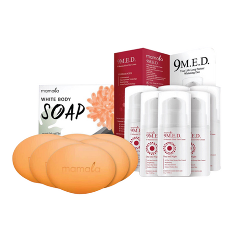 6 MAMALA GLOW BODY SOAP & 6 9MED