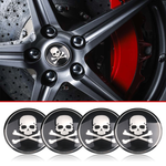 Skull Wheel 3D Stickers