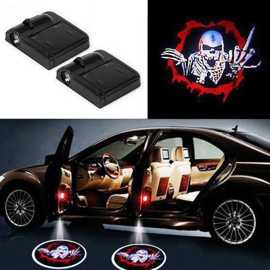 Wireless Car Door LED SKULL -  2 PCS