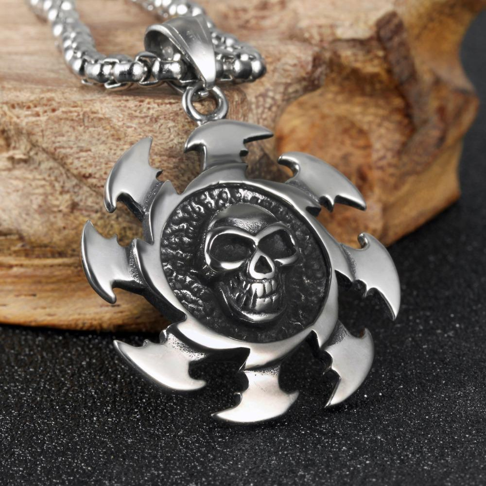 Cool Skull Fire Darts Necklace