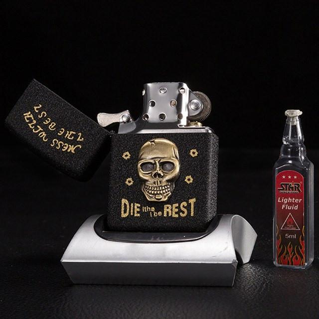 Retro Metal skull lighters