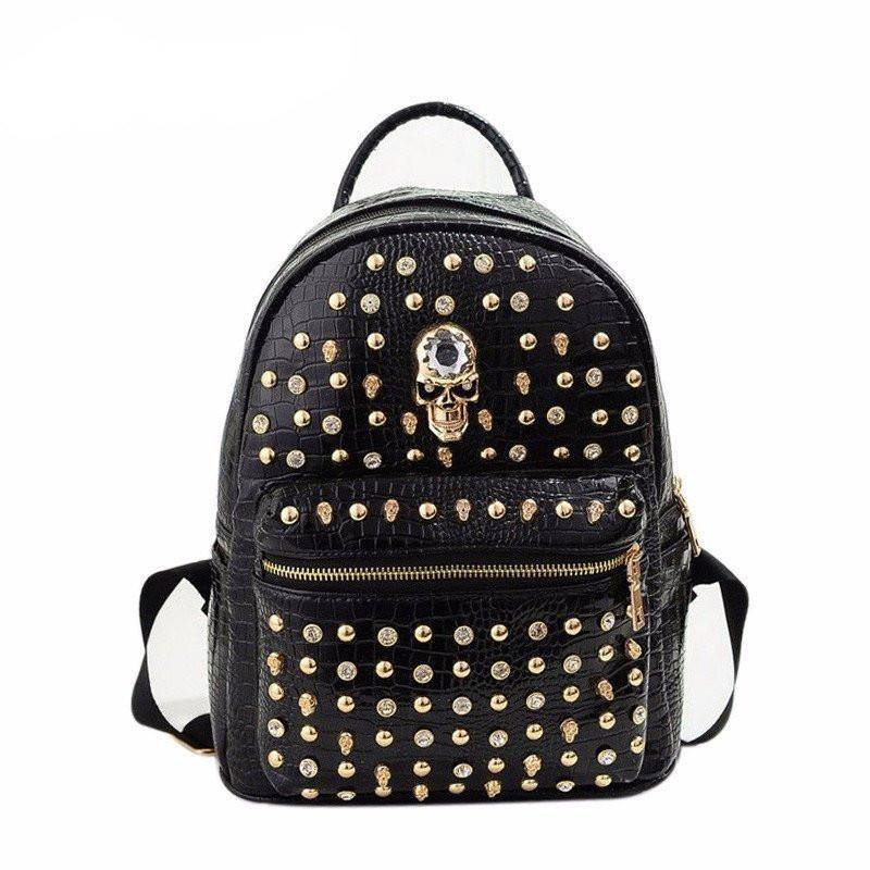 New Style Skull Fashion Women Backpack