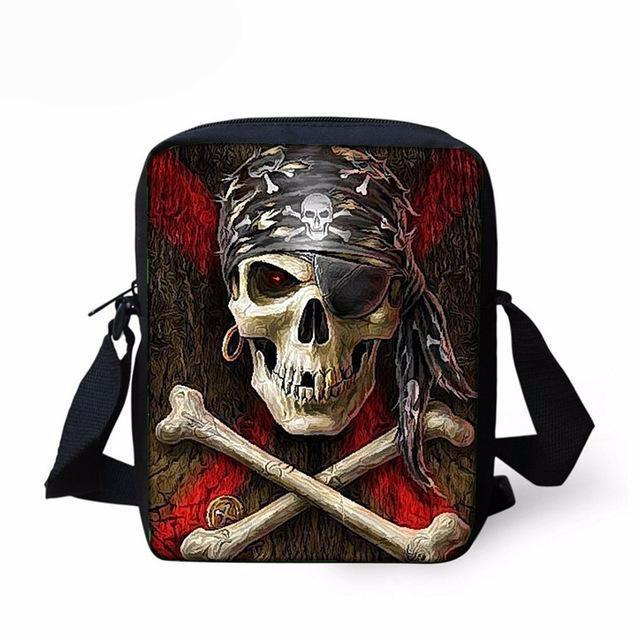 Colorful Cool Skull Messenger Bags