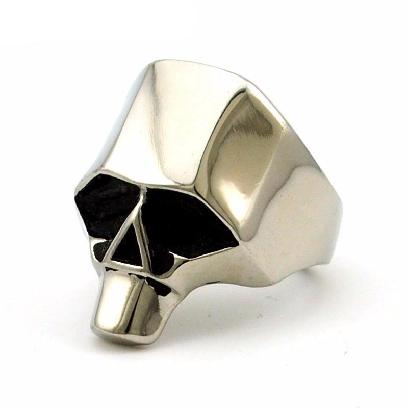 Retro Punk Skull Ring