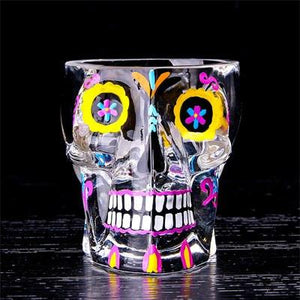 Colorful Magic Skull Glass