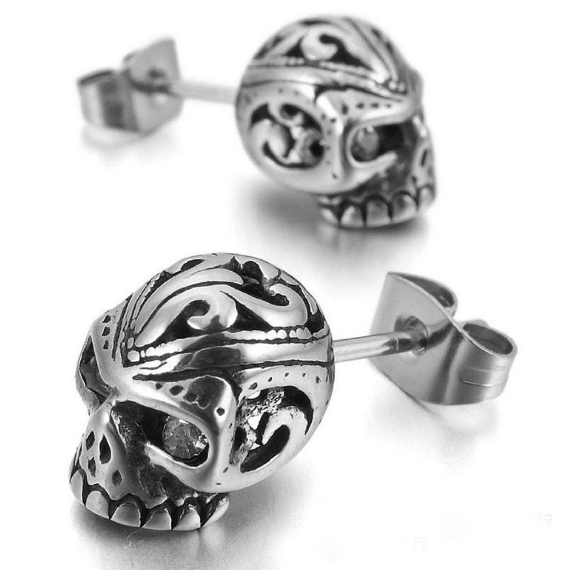 Punk Rock Skull Stud Earrings