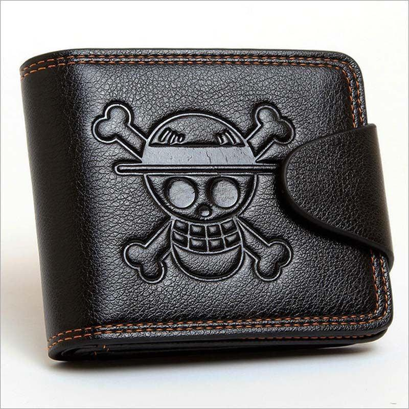 Men Skull Wallet PU Leather