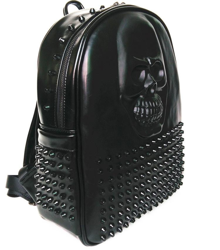 Hiphop Cool 3D Skull Leather Backpack