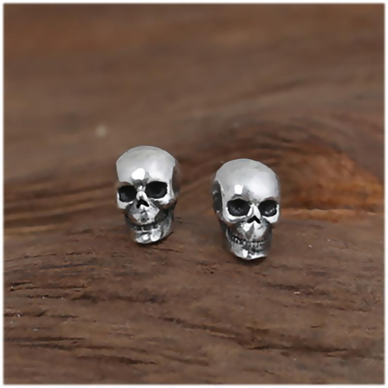Small Rock Punk Skull Earrings