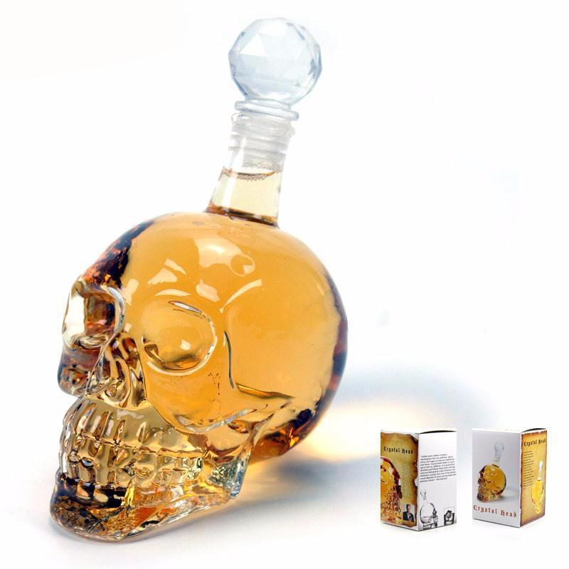 Crystal Skull Head Wine Decanter