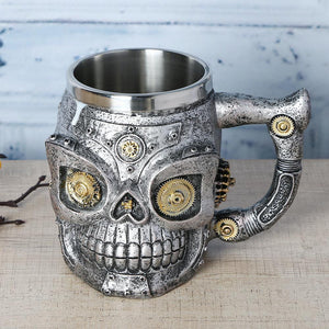 Mechanical Gear Skull Mug