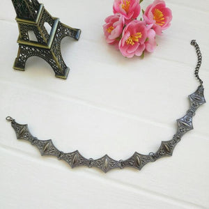 Metal Geometric Punk Gothic Choker Necklace