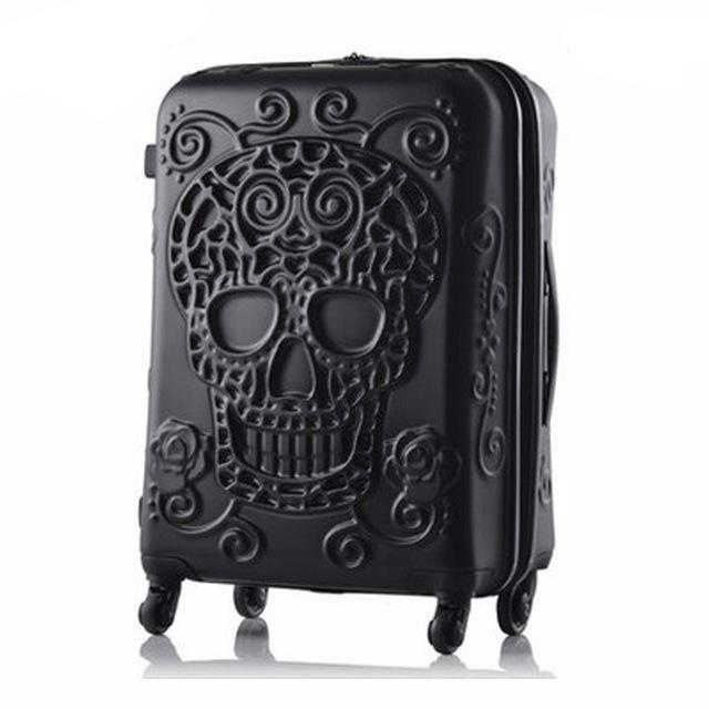 Skull Suitcase Travel Luggage