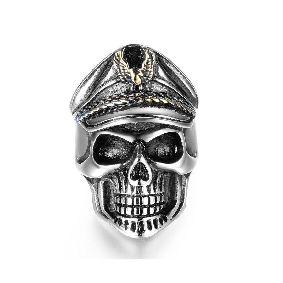 Officer Skull Titanium Rings