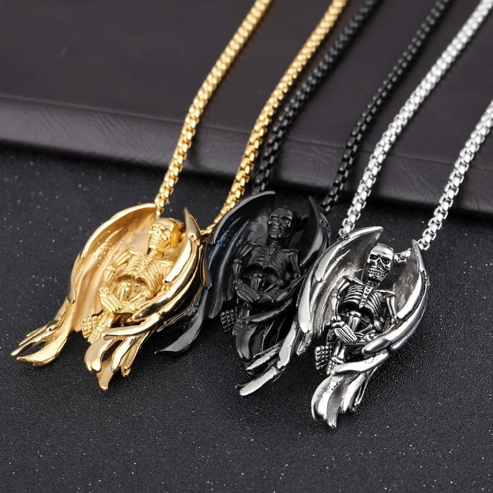 Classic Skeleton Wing Necklaces