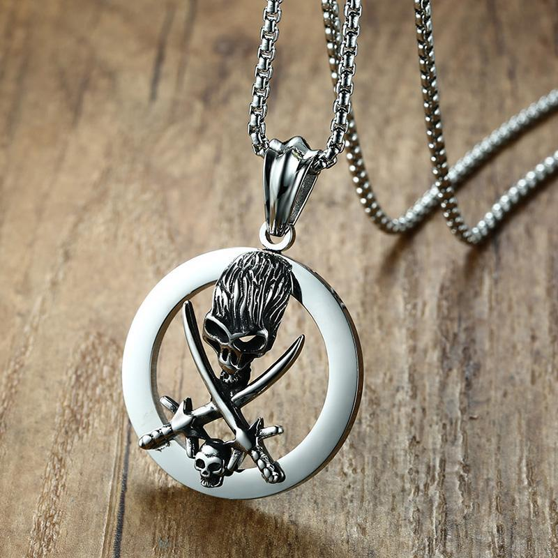 Pirate Head Bone Necklaces