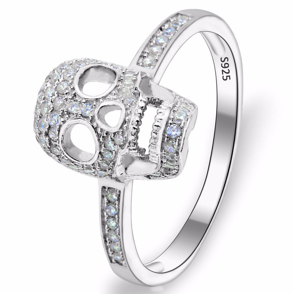 Skull Bone Cubic Zircon Ring